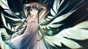 Rating: Questionable Score: 18 Tags: dress loli no_bra rumoon saya saya_no_uta see_through summer_dress tagme wings User: Dreista
