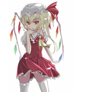 Rating: Safe Score: 34 Tags: flandre_scarlet supertie thighhighs touhou wings User: holdomino