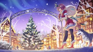 Rating: Safe Score: 15 Tags: anbe_yoshirou christmas dress landscape tagme thighhighs wallpaper User: Dreista