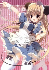 Rating: Questionable Score: 68 Tags: animal_ears crease dress inugami_kira maid neko thighhighs User: fireattack