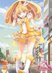 Rating: Questionable Score: 28 Tags: bike_shorts candy_(smile_precure) crossover hino_akane hoshizora_miyuki hpflower kise_yayoi koiwai_yotsuba pretty_cure smile_precure! yotsubato! User: 椎名深夏