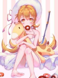 Rating: Safe Score: 20 Tags: bakemonogatari dress oshino_shinobu pani_(wpgns9536) skirt_lift summer_dress sword User: BattlequeenYume