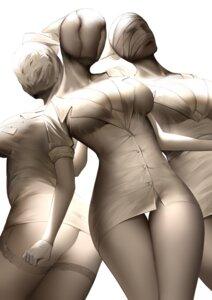 Rating: Questionable Score: 21 Tags: an_yasuri ass bandages cleavage no_bra nopan nurse open_shirt pantsu silent_hill stockings thighhighs User: Mr_GT