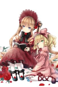 Rating: Safe Score: 32 Tags: dress heels hina_ichigo lolita_fashion rozen_maiden shinku yumeichigo_alice User: charunetra