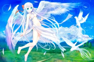 Rating: Questionable Score: 57 Tags: landscape setona underboob wings User: KazukiNanako