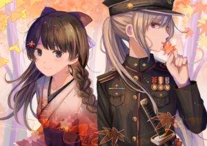 Rating: Safe Score: 16 Tags: higuchi_kaede japanese_clothes nijisanji sword tagme tsukino_mito uniform User: BattlequeenYume