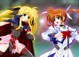 Rating: Safe Score: 6 Tags: diesel fate_testarossa mahou_shoujo_lyrical_nanoha takamachi_nanoha thighhighs User: jr0904