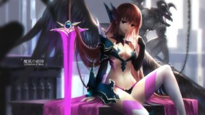 Rating: Safe Score: 82 Tags: armor bikini_armor cleavage swd3e2 sword thighhighs venus_blood venusblood_-frontier- wings User: Mr_GT