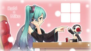 Rating: Safe Score: 30 Tags: e-suke hatsune_miku headphones mecha vocaloid wallpaper User: charunetra