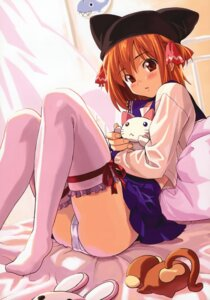 Rating: Questionable Score: 51 Tags: pantsu seifuku takeda_hiromitsu thighhighs User: blooregardo