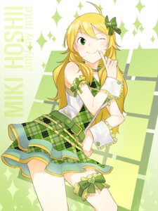 Rating: Safe Score: 23 Tags: garter gulim hoshii_miki the_idolm@ster User: Radioactive