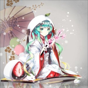 Rating: Safe Score: 99 Tags: hakusai hatsune_miku japanese_clothes vocaloid yuki_miku User: guziming