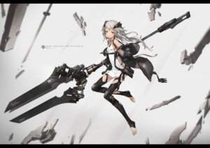 Rating: Safe Score: 50 Tags: dress thighhighs weapon yucca-612 User: NotRadioactiveHonest