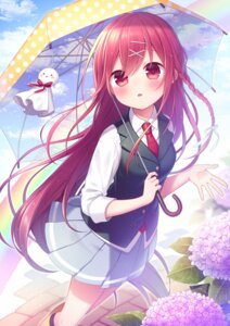 Rating: Safe Score: 55 Tags: amene_kurumi seifuku umbrella User: charunetra