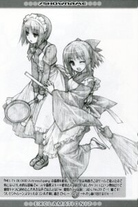 Rating: Safe Score: 16 Tags: exclamation hashimoto_takashi hisui kohaku maid monochrome sketch tsukihime wa_maid User: 瑚乃悠夏