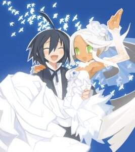 Rating: Safe Score: 16 Tags: cleavage disgaea disgaea_3 dress harada_takehito sapphire_rhodonite wedding_dress User: hurtm\onfire