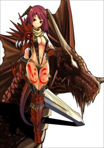Rating: Safe Score: 30 Tags: armor cleavage sakanobotsuki sword thighhighs User: Radioactive