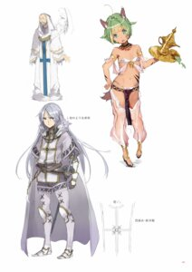 Rating: Questionable Score: 24 Tags: animal_ears armor bikini bodysuit digital_version outbreak_company see_through sketch swimsuits tail yuugen User: Twinsenzw