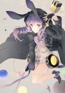 Rating: Safe Score: 40 Tags: animal_ears bunny_ears dress heels vocaloid weapon yoshino_ryou yuzuki_yukari User: Mr_GT