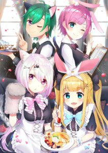 Rating: Safe Score: 27 Tags: animal_ears bunny_ears maid mononobe_alice nekomimi nijisanji nijisanji_gamers nijisanji_seeds omelet_tomato ryuushen shiina_yuika tail waitress yuuhi_riri User: Mr_GT