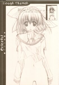 Rating: Questionable Score: 7 Tags: a.l.c bottomless kannazuki_nemu monochrome seifuku sketch User: fireattack