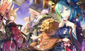 Rating: Safe Score: 36 Tags: animal_ears bunny_ears jie_laite kimono umbrella User: Mr_GT