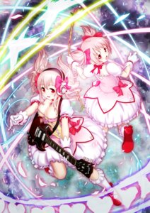 Rating: Safe Score: 29 Tags: cleavage cosplay crossover guitar headphones hirohito kaname_madoka puella_magi_madoka_magica super_sonico User: mahoru