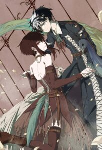 Rating: Safe Score: 12 Tags: date_masamune_(gate_7) dress eyepatch gate_7 hana_(gate_7) thighhighs yayoi_ryuu User: charunetra