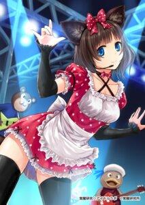 Rating: Safe Score: 50 Tags: animal_ears kazuharu_kina nekomimi thighhighs User: 椎名深夏