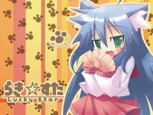 Rating: Safe Score: 11 Tags: animal_ears hirose_madoka izumi_konata lucky_star seifuku wallpaper User: -Konata-
