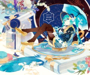 Rating: Safe Score: 19 Tags: agent_no.9 hatsune_miku pantyhose umbrella vocaloid yuki_miku User: Mr_GT