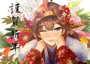 Rating: Safe Score: 27 Tags: japanese_clothes kantai_collection kongou_(kancolle) konkito User: BattlequeenYume