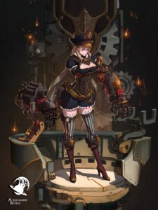 Rating: Safe Score: 27 Tags: cleavage dress heels mecha_musume reisun001 thighhighs User: charunetra