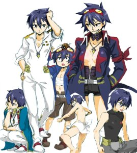 Rating: Questionable Score: 8 Tags: genderswap harayan no_bra open_shirt simon tengen_toppa_gurren_lagann topless User: Syko83