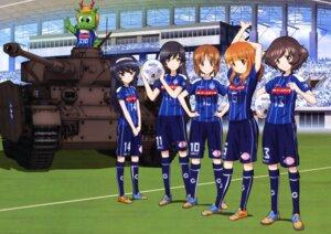 Rating: Safe Score: 11 Tags: akiyama_yukari girls_und_panzer isuzu_hana nishizumi_miho reizei_mako soccer takebe_saori uniform User: drop