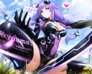 Rating: Questionable Score: 77 Tags: bodysuit cameltoe choujigen_game_neptune cleavage obaoba_(monkeyix) purple_heart sword thighhighs User: yanis