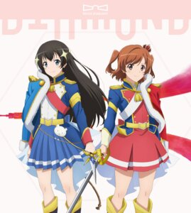Rating: Safe Score: 15 Tags: aijou_karen disc_cover kagura_hikari shoujo_kageki_revue_starlight sword uniform User: saemonnokami
