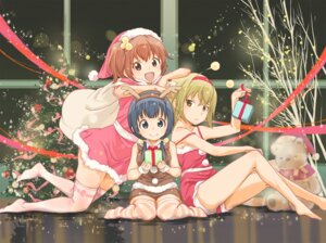 Rating: Safe Score: 37 Tags: aiura amaya_kanaka christmas hosoi_mieko iwasawa_saki thighhighs uehara_ayuko User: vkun