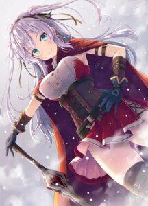 Rating: Safe Score: 83 Tags: akashio garter skirt_lift sword thighhighs User: Mr_GT