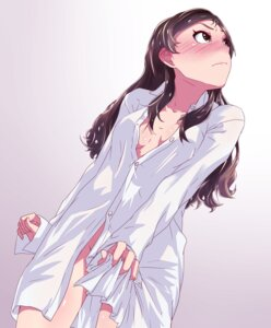 Rating: Questionable Score: 44 Tags: bottomless cleavage dress_shirt hisa_tsuki kitazawa_shiho no_bra open_shirt the_idolm@ster the_idolm@ster_million_live User: Mr_GT