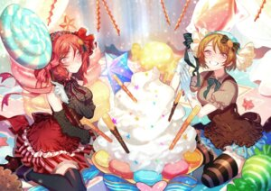 Rating: Safe Score: 26 Tags: dress heels koizumi_hanayo love_live! nishikino_maki thighhighs zuizi User: Mr_GT