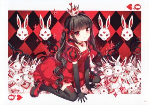 Rating: Safe Score: 135 Tags: alice_in_wonderland dress nardack paper_texture queen_of_hearts thighhighs User: yong