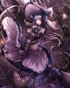 Rating: Safe Score: 36 Tags: animal_ears dress gothic_lolita kitsune lolita_fashion momingie skirt_lift tail thighhighs witch User: Nepcoheart