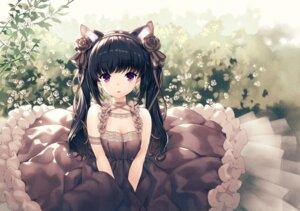 Rating: Safe Score: 31 Tags: animal_ears cleavage dress hirano_katsuyuki nekomimi skirt_lift User: Mr_GT