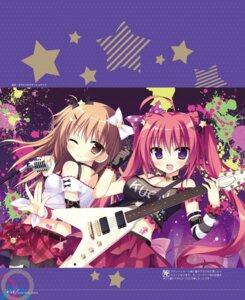 Rating: Safe Score: 32 Tags: cleavage guitar natsuiro_kokoro_log see_through shiromochi_sakura User: Twinsenzw