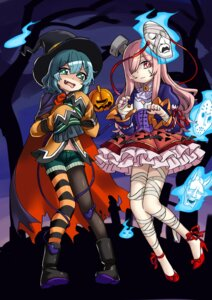 Rating: Safe Score: 14 Tags: bandages halloween hata_no_kokoro heels komeiji_koishi nobori_ranzu pantyhose touhou witch User: Mr_GT
