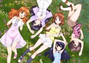 Rating: Safe Score: 26 Tags: akiyama_yukari dress girls_und_panzer heels isuzu_hana nishizumi_miho reizei_mako takebe_saori User: drop