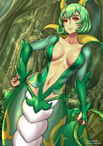 Rating: Questionable Score: 15 Tags: anthropomorphization monster_girl no_bra pokemon redjet serperior weapon User: Mr_GT