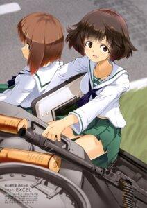 Rating: Safe Score: 15 Tags: akiyama_yukari excel_(artist) girls_und_panzer gun nishizumi_miho seifuku User: drop