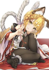 Rating: Safe Score: 73 Tags: animal_ears feet granblue_fantasy hyouta_(nekogamirin_c) japanese_clothes pantyhose tail vajra_(granblue_fantasy) User: BattlequeenYume